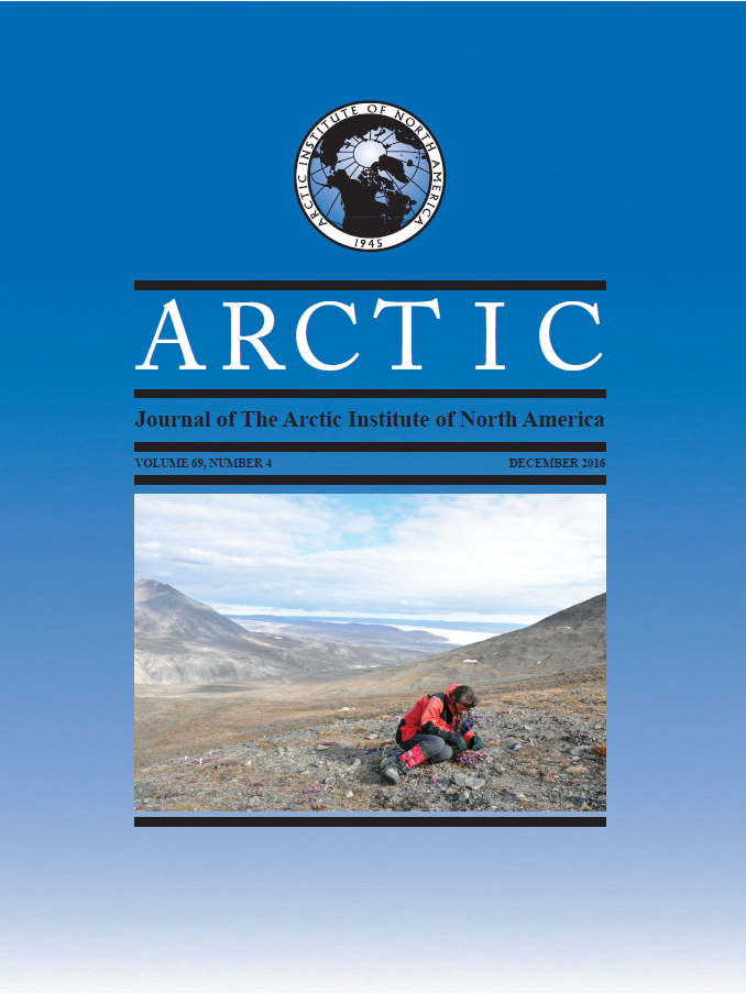 Cover image Arctic 69(4)