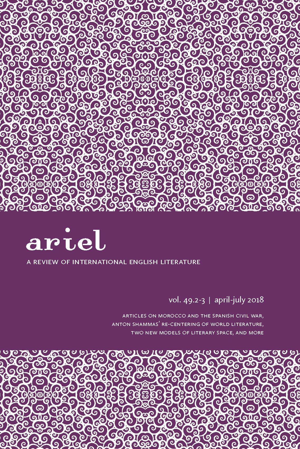 Archives | ARIEL: A Review of International English Literature