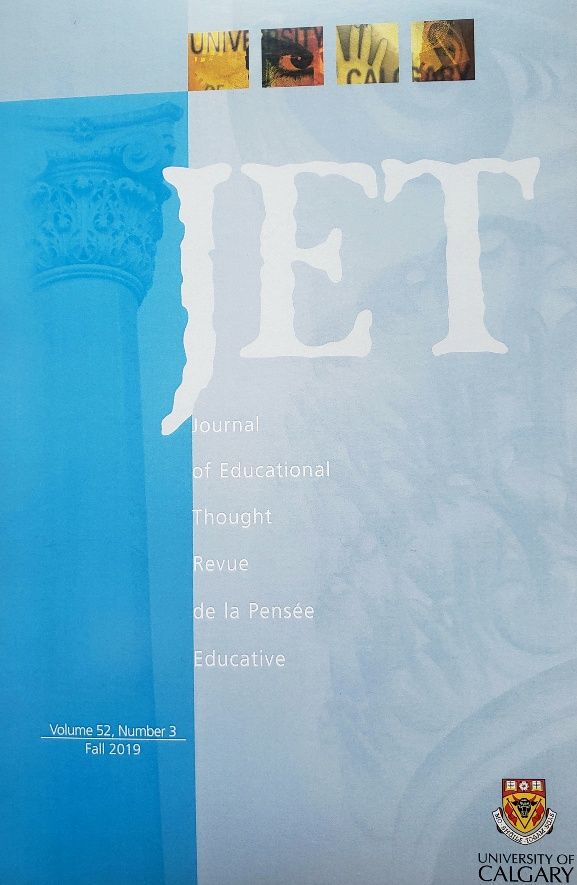 View Vol. 52 No. 3 (2019): Journal of Educational Thought