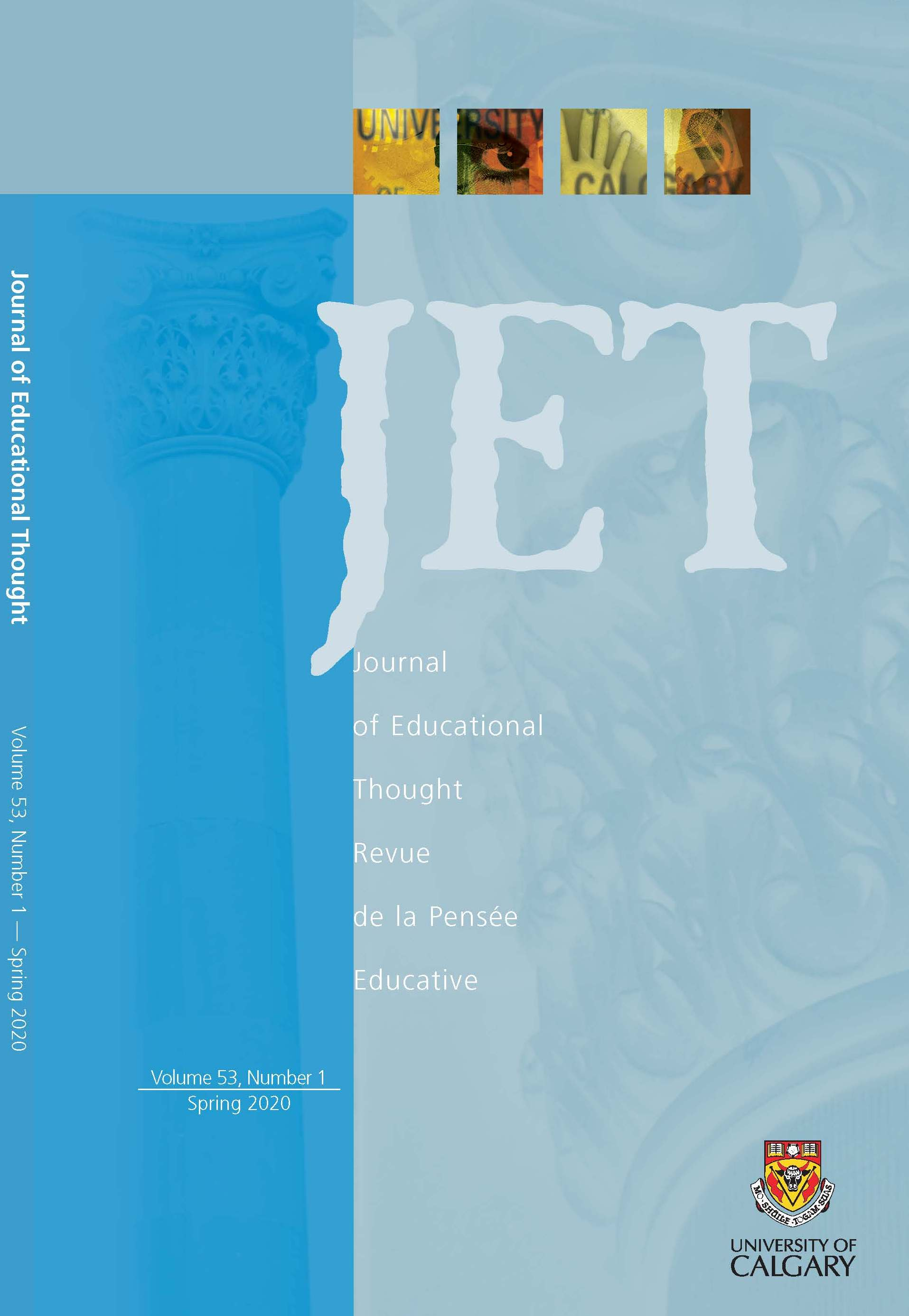 View Vol. 53 No. 1 (2020): Journal of Educational Thought