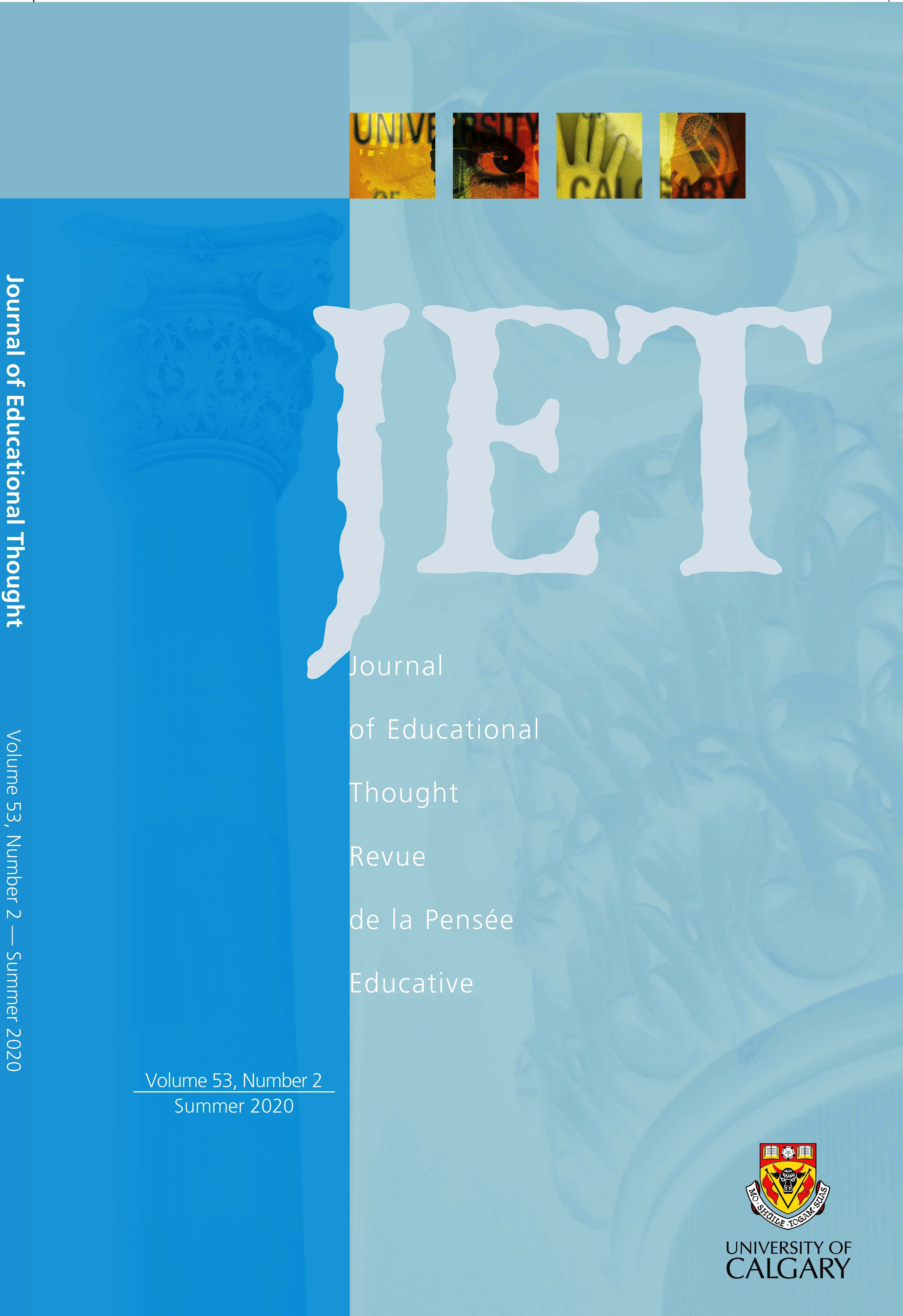 View Vol. 53 No. 2 (2020): Journal of Educational Thought