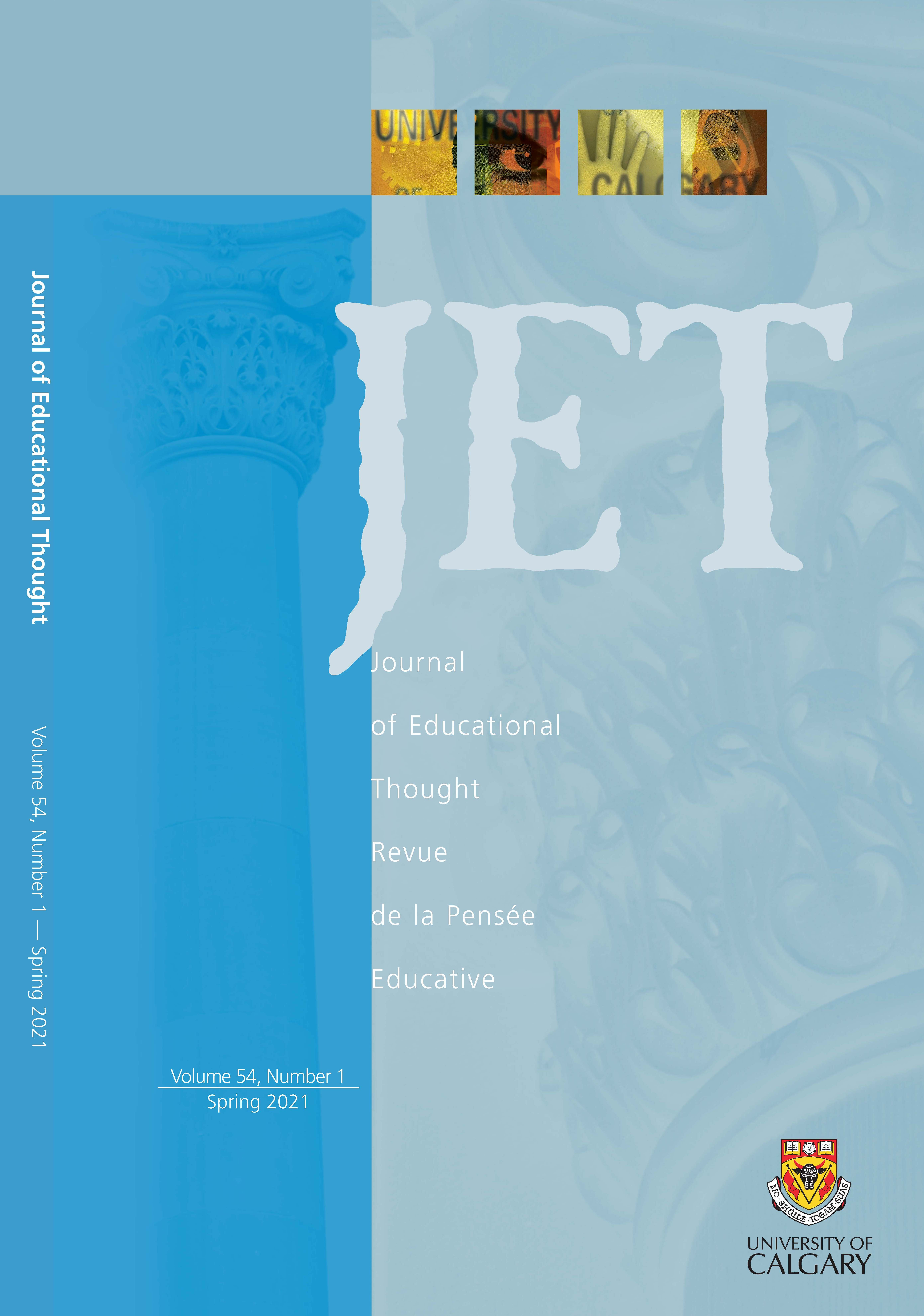 View Vol. 54 No. 1 (2021): Journal of Educational Thought